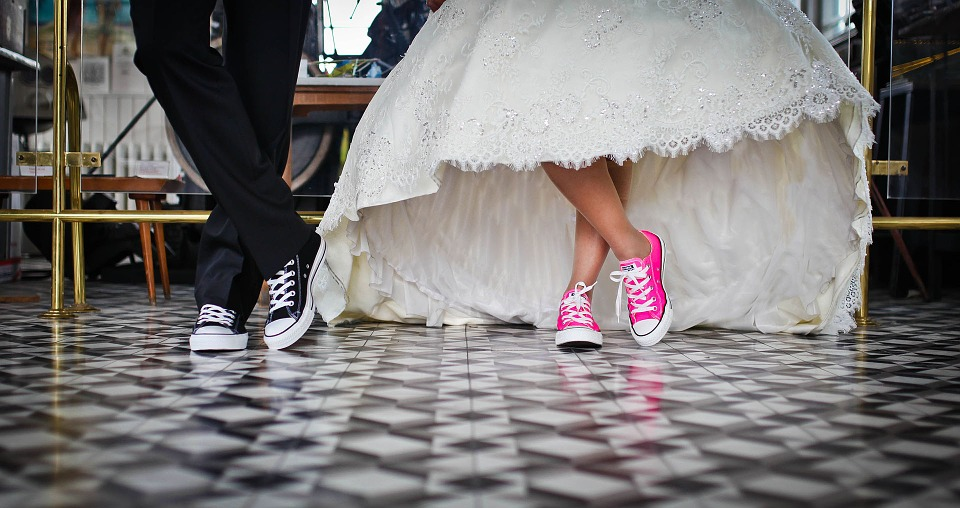 Bride and Groom Feet Image