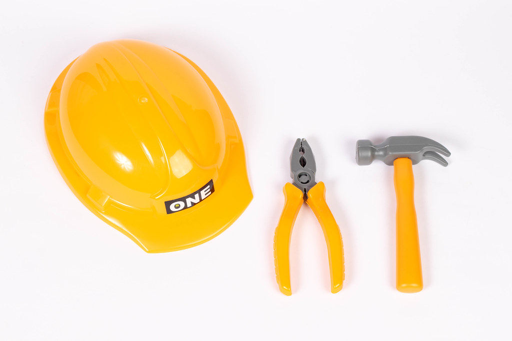 Workman hat and tools