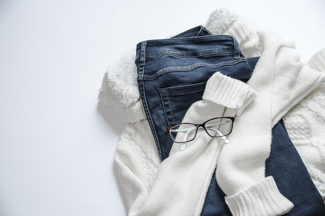 Clothing and glasses