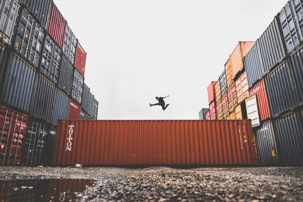 Jumping over a Container